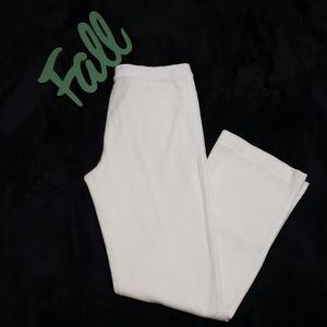 CALVIN KLEIN white cotton blend sweat pants